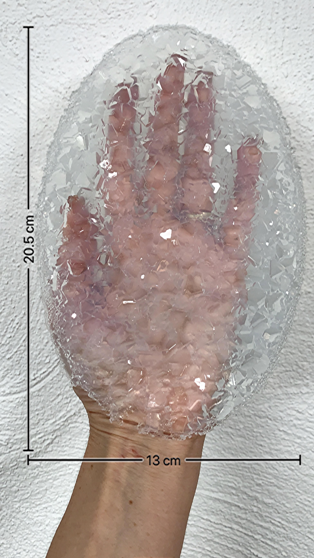 Crystal Rug oval, Crystal Silikon Mold für Tablets und Platten 20,5 x13 cm